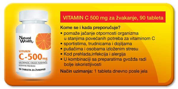 natural wealth vitamin c za žvakanje